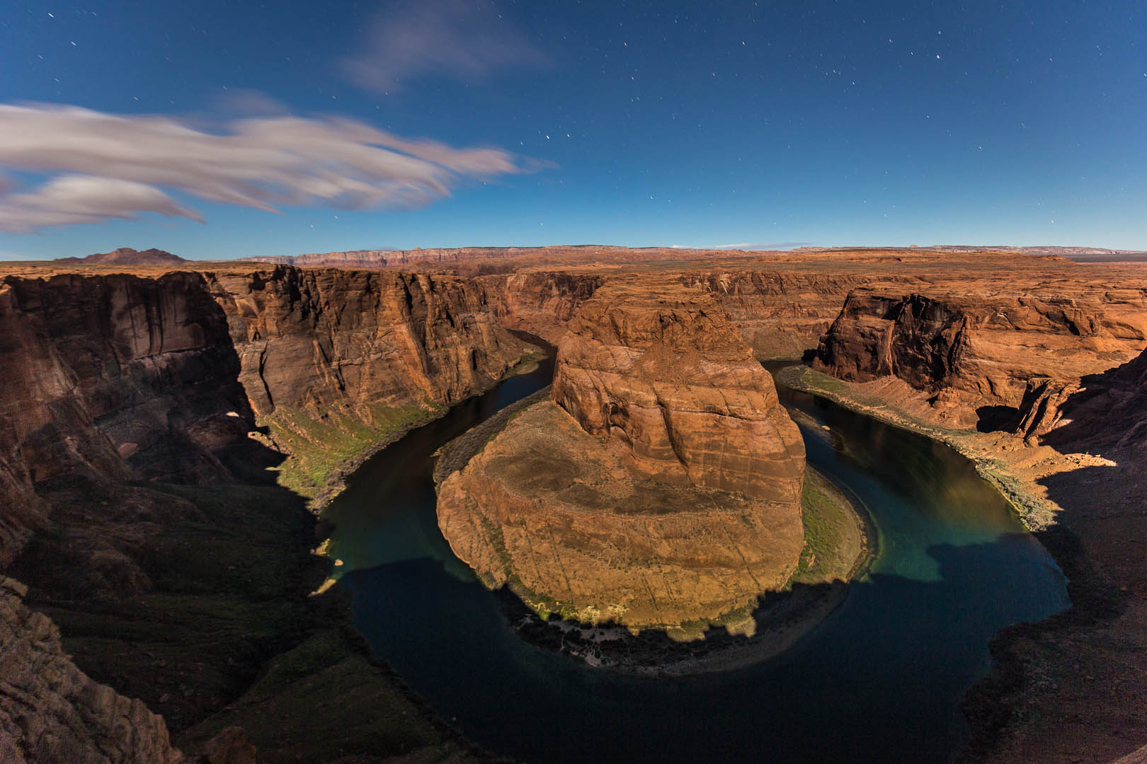 Horseshoe Bend, by night